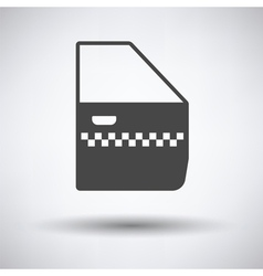 Taxi side door icon vector