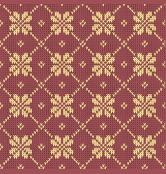 Abstract pattern with seamless knitted texture vector