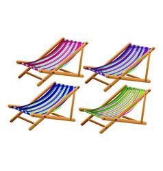 Beach chairs vector