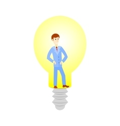 Business man cartoon character have an idea for vector