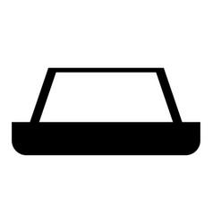 Carpet the black color icon vector