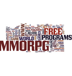Free mmorpg aplenty text background word cloud vector