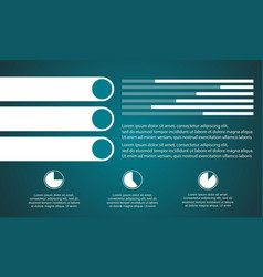 Graphic and data business infographic style vector