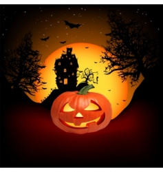 haunted house vector image