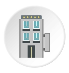 Hotel five stars icon flat style vector