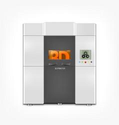 Industrial 3d printer vector