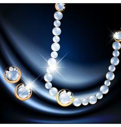 Jewelry gemstone set vector