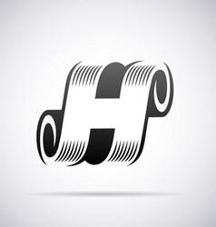 Logo for letter h vector