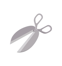 Metal scissors cartoon icon vector