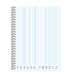 notebook barcode vector image