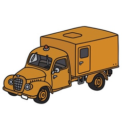 Old service truck vector image vector image