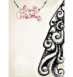 Ornamental vintage christmas card vector