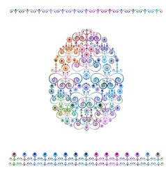Orrnament easter egg background EPS 10 vector image