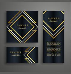 premium golden invitation card design vector image