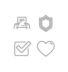 report file protection and check icons vector image