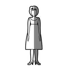 silhouette shading body faceless woman with vector image vector image