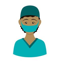 Surgeon doctor profile avatar vector