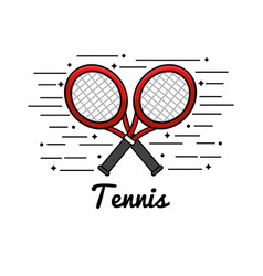 Symbol tennis play icon vector
