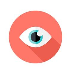 Vision eye circle flat icon vector