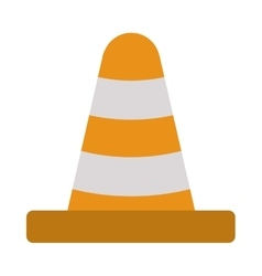 Construction or traffic cone icon vector