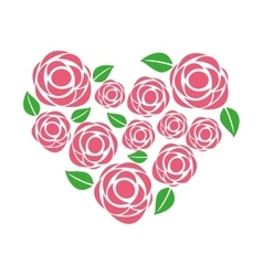 rose floral decoration icon vector image