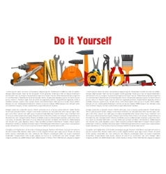 Building home repair work tools and instruments vector image