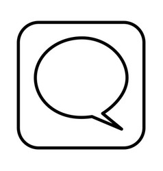 monochrome contour square with speech bubble vector image