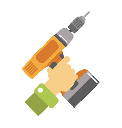 hand with screwdriver isolated vector image