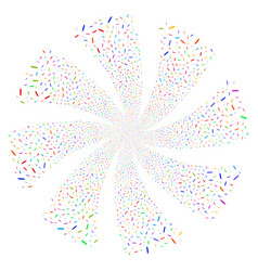edit pencil fireworks swirl rotation vector image