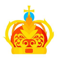 Crown icon cartoon style vector