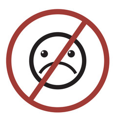 Do not sad icon vector