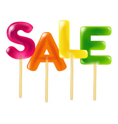 Color sale candy vector