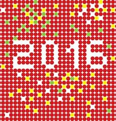 2016 dots stencil vector image vector image