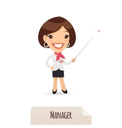 Female manager with laser pointer vector