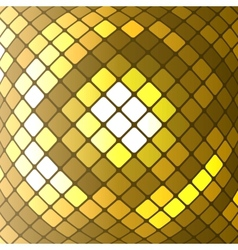 abstract golden mosaic background vector image