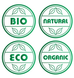Eco stamps vector