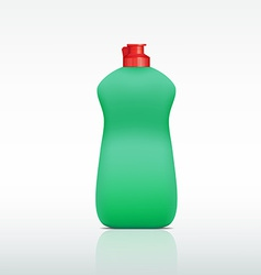 Plastic bottle of detergent vector