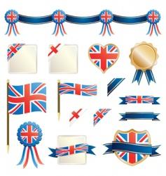 great britain ribbons and seals vector image