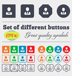 Male silhouette icon sign big set of colorful vector
