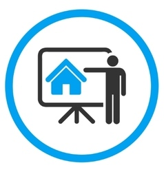 Realtor presentation circled icon vector