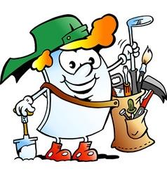 Cartoon of a Happy Golfer Paper Mascot vector image