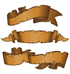 Dirty old ribbons vector