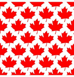 Seamless wrapping paper - red maple leafs vector