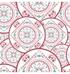 Ornamental round seamless pattern vector