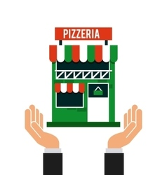 Investment in pizzeria isolated icon design vector
