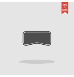 Virtual reality headset icon flat design vector