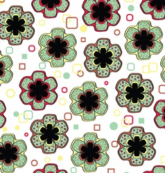 Abstract flowers endless seamless pattern vector