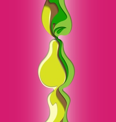 Abstract Pear vector image vector image