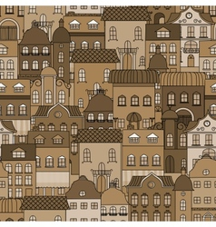Ancient city seamless pattern vector image vector image