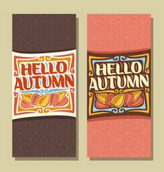 Banners for autumn season vector